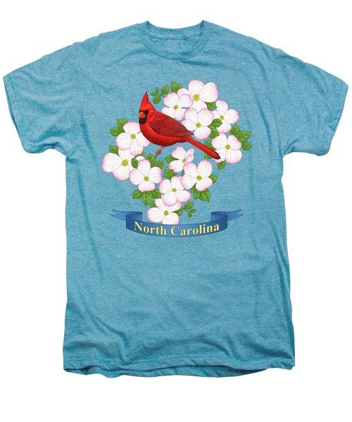 North Carolina State Bird And Flower Men's Premium T-Shirt
