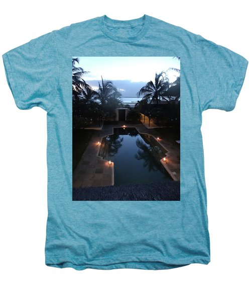 North - Eastern African Home - Sundown Over The Swimming Pool Men's Premium T-Shirt by Exploramum Exploramum