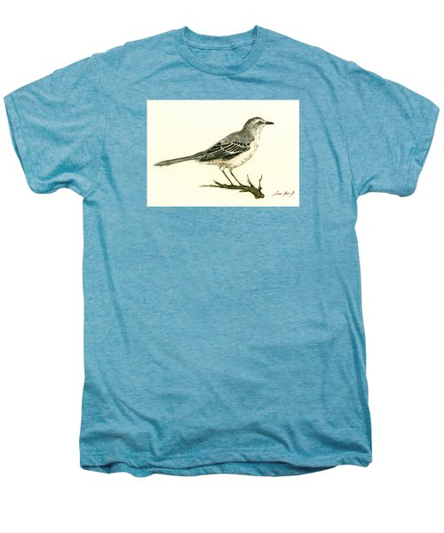 Northern Mockingbird Men's Premium T-Shirt by Juan  Bosco