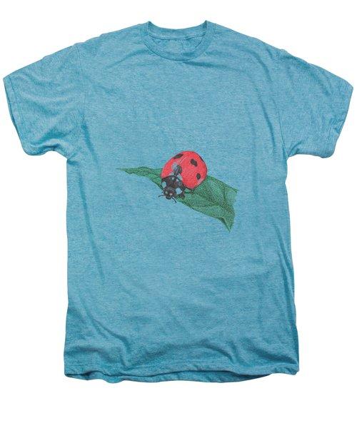 Nursery Painting, Insect Wall Art, Ladybug Print, Animal Nursery Prints, Red Nursery Art  Men's Premium T-Shirt