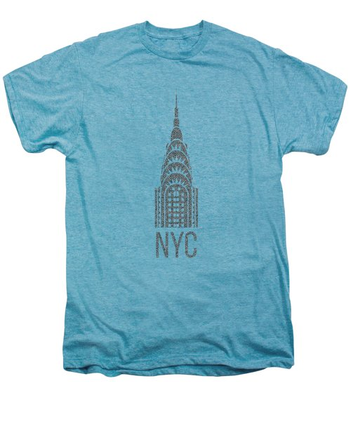 Nyc New York City Graphic Men's Premium T-Shirt by Edward Fielding