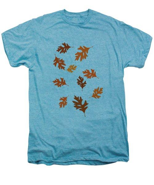 Oak Leaves Art Men's Premium T-Shirt by Christina Rollo