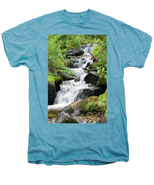 Men's Premium T-Shirt featuring the photograph Oasis Cascade by David Chandler