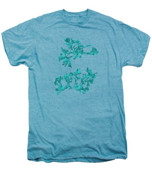 Men's Premium T-Shirt featuring the mixed media Ocean Seaweed Plant Art Phyllophora Rubens by Christina Rollo