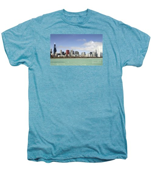 Men's Premium T-Shirt featuring the photograph Off The Shore Of Chicago by Ricky L Jones