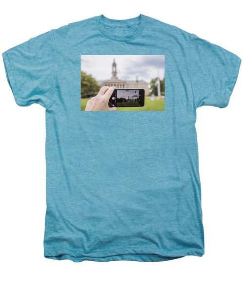 Old Main Through Iphone  Men's Premium T-Shirt by John McGraw