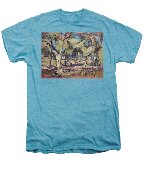 Olive Grove Along Marmari Beach Paxos Men's Premium T-Shirt