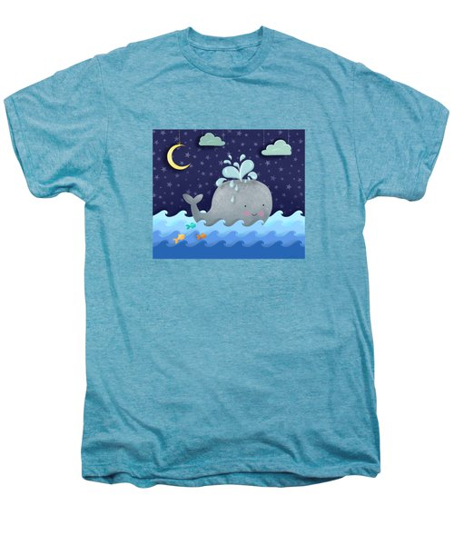One Wonderful Whale With Fabulous Fishy Friends Men's Premium T-Shirt