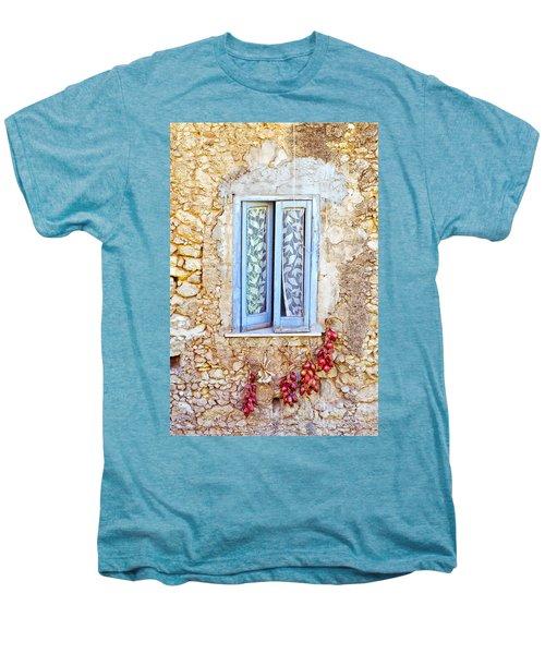 Onions And Garlic On Window Men's Premium T-Shirt