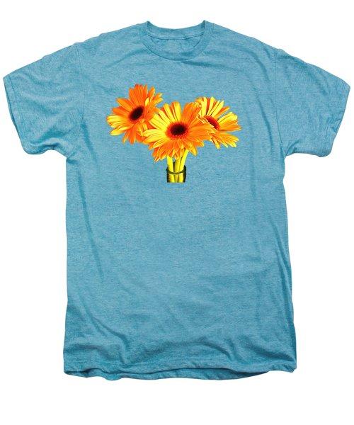 Orange Gerbera's Men's Premium T-Shirt by Scott Carruthers