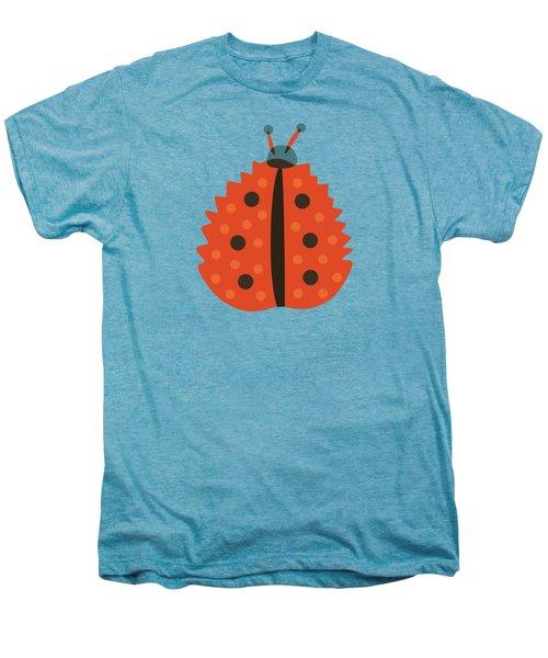 Orange Ladybug Masked As Autumn Leaf Men's Premium T-Shirt
