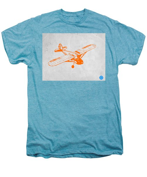 Orange Plane 2 Men's Premium T-Shirt by Naxart Studio