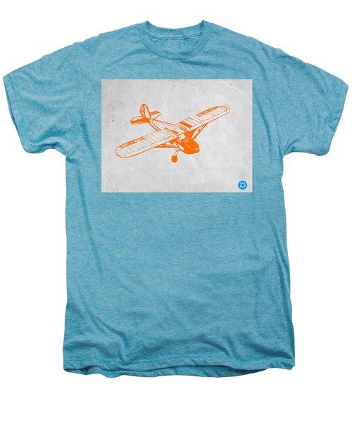 Orange Plane 2 Men's Premium T-Shirt by Naxart Studio
