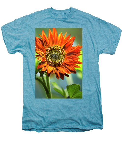 Orange Sunflower Men's Premium T-Shirt