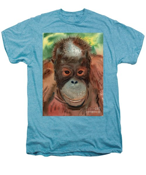 Orangutan Men's Premium T-Shirt by Donald Maier