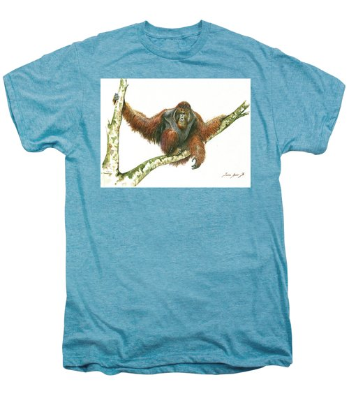 Orangutang Men's Premium T-Shirt by Juan Bosco