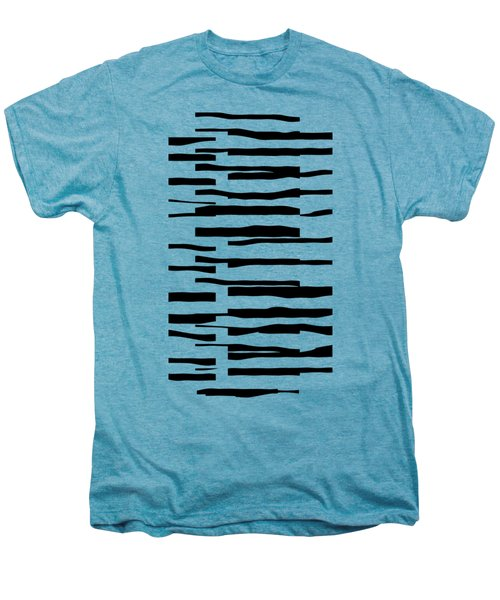 Organic No 13 Black And White Line Abstract Men's Premium T-Shirt