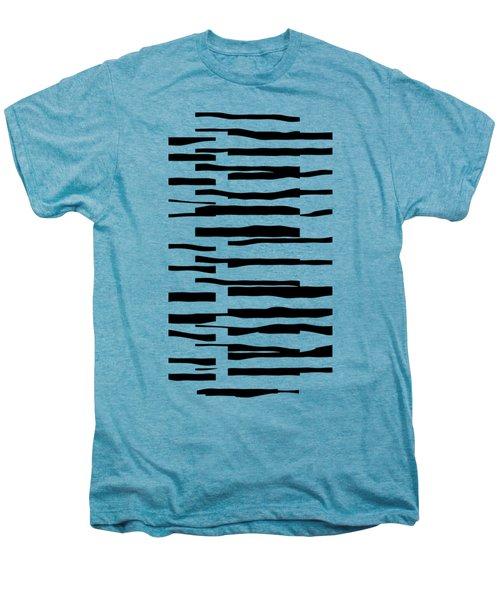 Organic No 13 Black And White Line Abstract Men's Premium T-Shirt