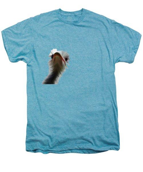 Ostrich Men's Premium T-Shirt by Priscilla Wolfe