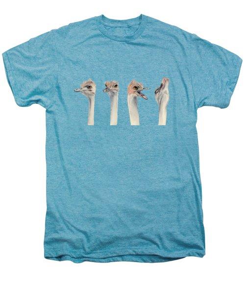 Ostrich Watercolor Painting Men's Premium T-Shirt