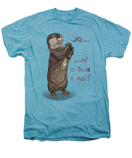 Otter Valentine Men's Premium T-Shirt by ZH Field