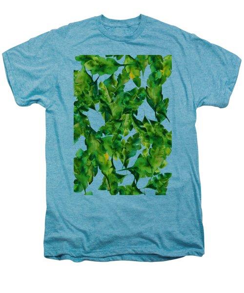Overlapping Leaves Men's Premium T-Shirt by Cortney Herron