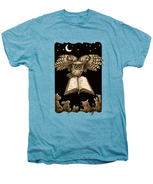 Owl And Friends Sepia Men's Premium T-Shirt