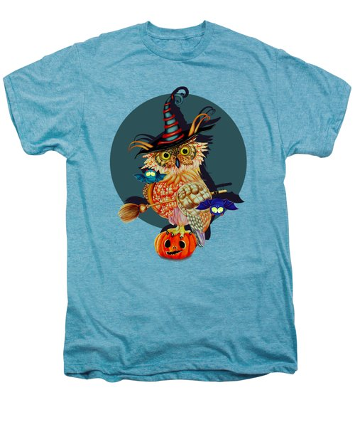 Owl Scary Men's Premium T-Shirt by Isabel Salvador