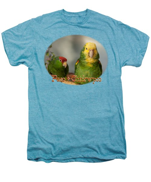 Paco And Chick-e-poo Men's Premium T-Shirt by Zazu's House Parrot Sanctuary
