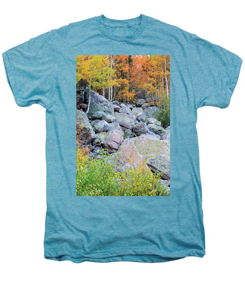 Men's Premium T-Shirt featuring the photograph Painted Rocks by David Chandler