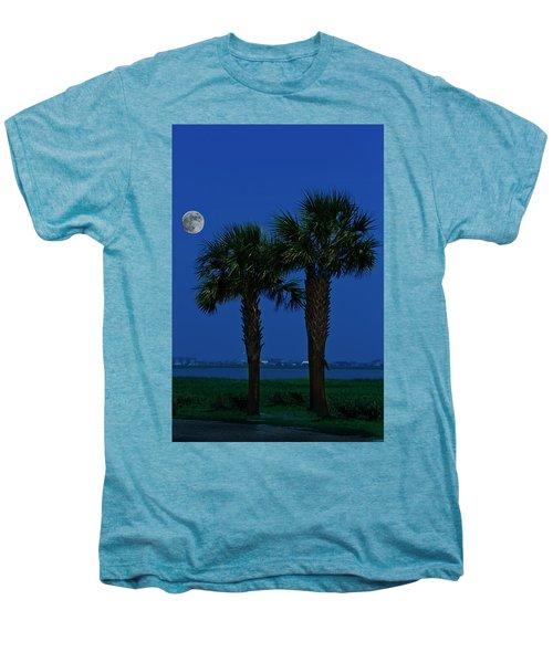 Palms And Moon At Morse Park Men's Premium T-Shirt