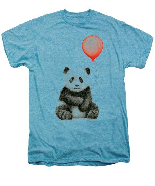 Panda Baby And Red Balloon Nursery Animals Decor Men's Premium T-Shirt