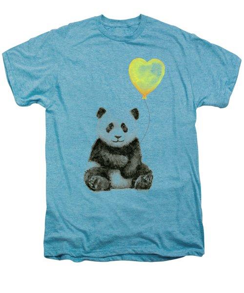Panda Baby With Yellow Balloon Men's Premium T-Shirt