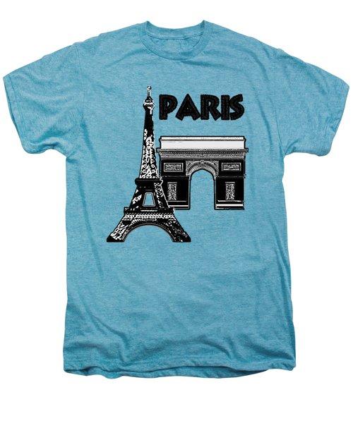 Paris Graphique Men's Premium T-Shirt by Pharris Art