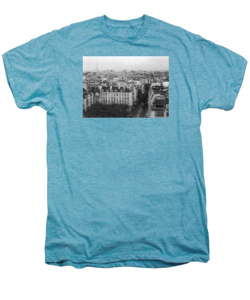 Paris In The Rain  Men's Premium T-Shirt by Dubi Roman