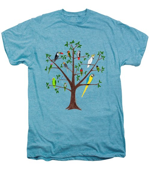 Parrot Tree Men's Premium T-Shirt by Rita Palmer