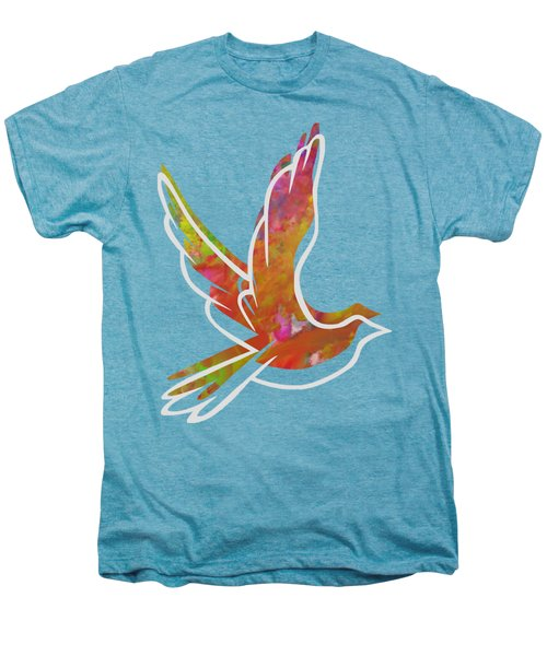Part Of Peace Dove Men's Premium T-Shirt by Priscilla Wolfe