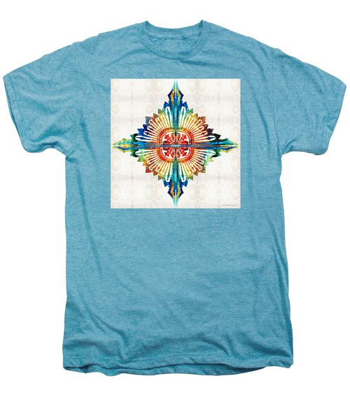 Pattern Art - Color Fusion Design 1 By Sharon Cummings Men's Premium T-Shirt