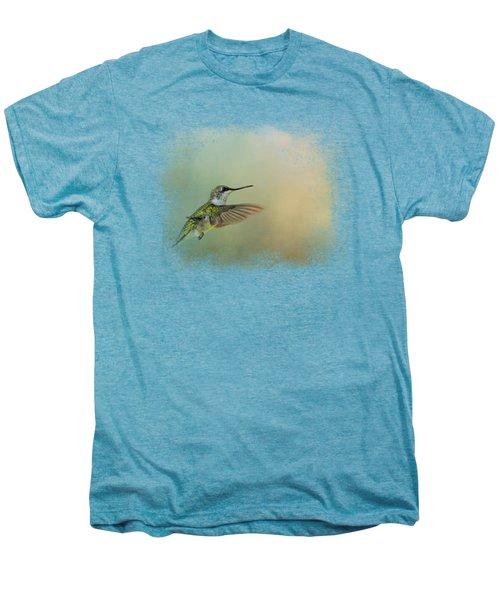 Peaceful Day With A Hummingbird Men's Premium T-Shirt