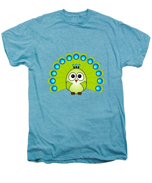 Peacock  - Birds - Art For Kids Men's Premium T-Shirt