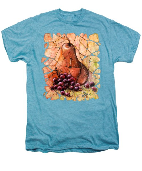 Pear And Grapes Fresco Men's Premium T-Shirt by Art OLena