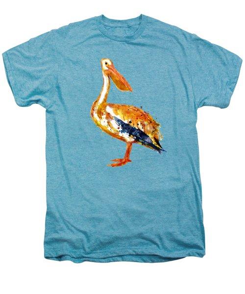 Pelican Watercolor Painting Men's Premium T-Shirt