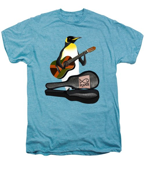 Penguin Busker Men's Premium T-Shirt by Early Kirky