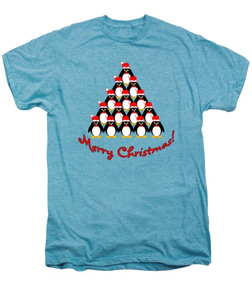 Penguin Christmas Tree Men's Premium T-Shirt by Methune Hively