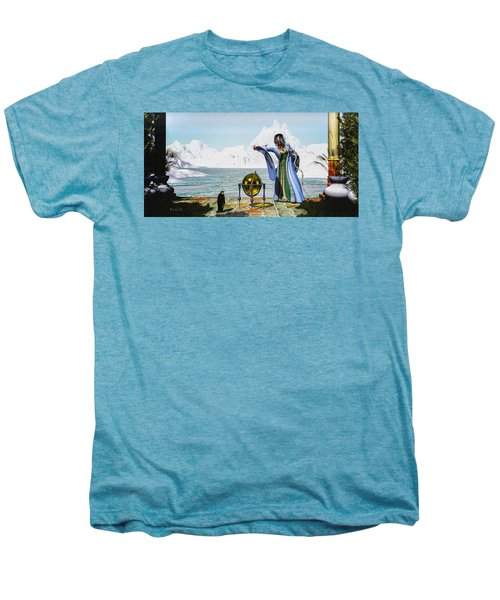 Penguin Magic And The Winter Witch Men's Premium T-Shirt by Bob Orsillo