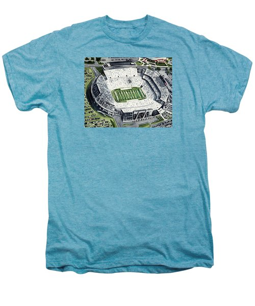 Penn State Beaver Stadium Whiteout Game University Psu Nittany Lions Joe Paterno Men's Premium T-Shirt by Laura Row