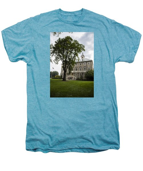 Penn State Old Main From Side  Men's Premium T-Shirt by John McGraw