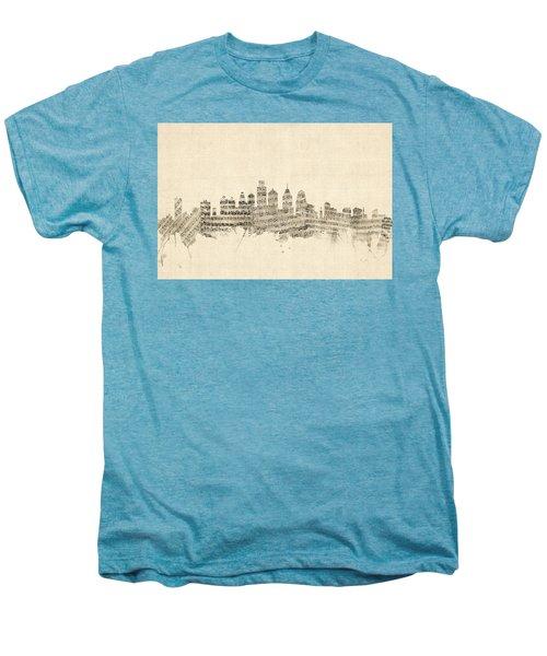 Philadelphia Pennsylvania Skyline Sheet Music Cityscape Men's Premium T-Shirt