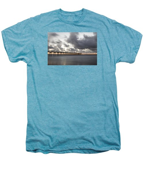 Pier In Misty Waters Men's Premium T-Shirt