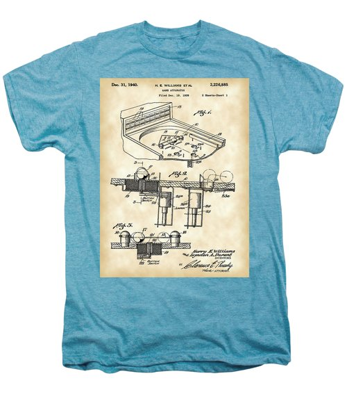 Pinball Machine Patent 1939 - Vintage Men's Premium T-Shirt by Stephen Younts